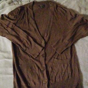 Express long sleeve long length cardigan sweater